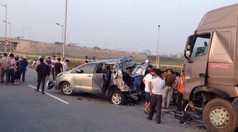 Hiện trường vụ tai nạn trên đường cao tốc. (Nguồn: Internet)