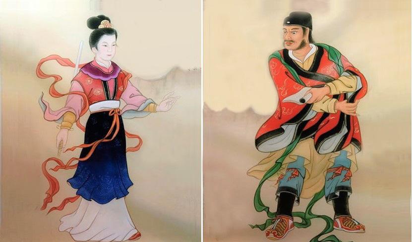 Đào Hoa Tiên Tử đấu với Chu Công. (Tranh minh họa: t/h)