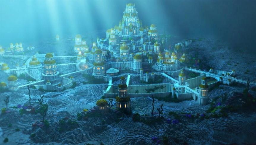 Ảnh minh họa lục địa Atlantis. (Ảnh qua El Diario 24)
