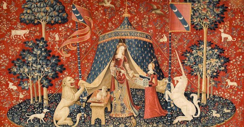 Những tấm thảm tráng lệ có từ thời Trung cổ mô tả linh thú kỳ lân
