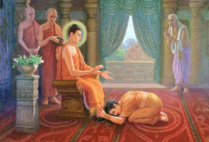 Kisa Gotami xin gia nhập Tăng đoàn và được Đức Phật chấp thuận