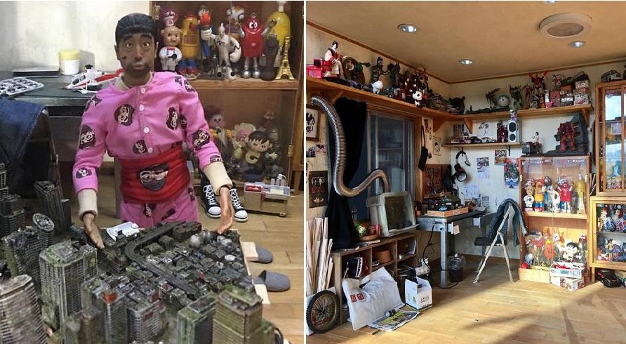 Chàng trai tạo ra cả 1 kho mô hình trong chính căn nhà mô hình
