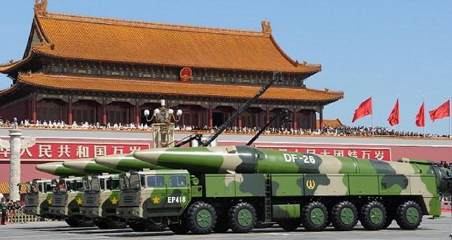 Hỏa tiễn đạn đạo DF-26 của Bắc Kinh, có tầm bắn từ 3.000 đến 4.000 km. (Ảnh qua MDAA)