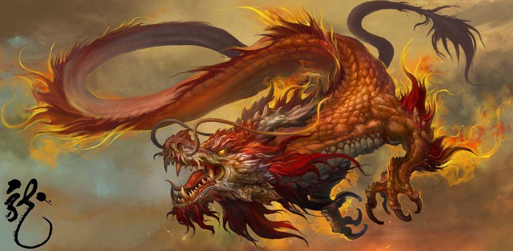 Phật Chủ truyền Phật Pháp - rồng đỏ