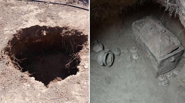 Chiếc ô tô bị sụp hố, vô tình phát hiện ra ngôi mộ cổ 3.400 năm tuổi