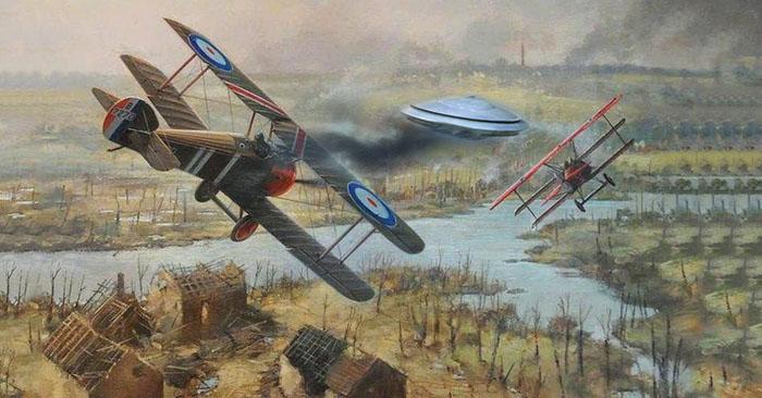 'Nam tước đỏ' của Đức từng bắn hạ một UFO trong thế chiến I?