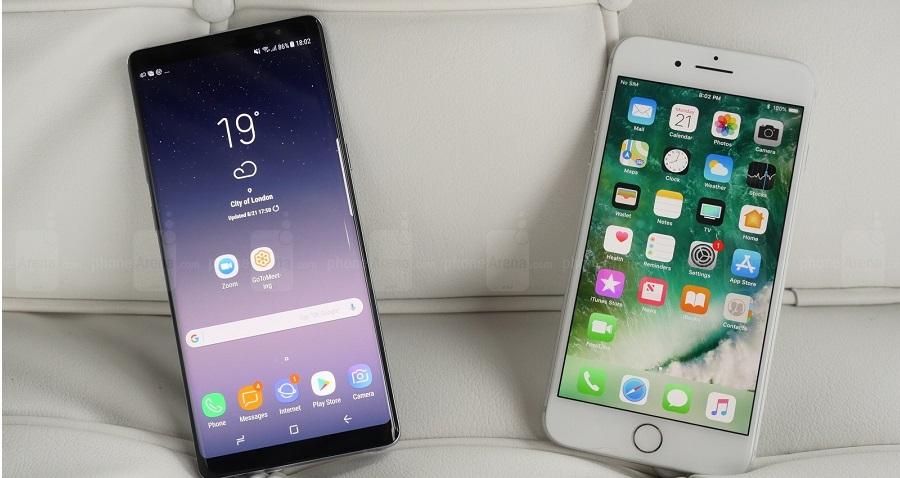Tết này nên mua iPhone 7 Plus hay Galaxy Note 8 du xuân?