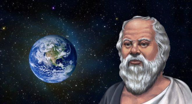 liệu có phảiSocrates đã từng du hành vũ trụ và đã nhìn thấy cảnh tượng của quả địa cầu từ xa.