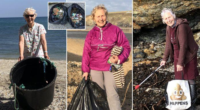 70 tuổi ngày ngày vẫn đi dọn rác ở bãi biển: Không bao giờ là quá muộn để bắt đầu - H1