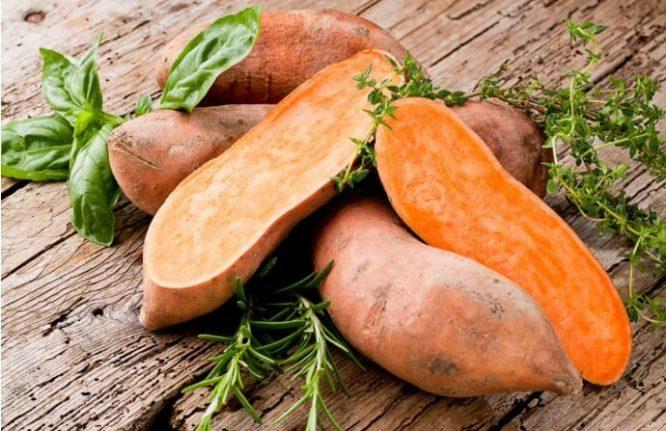 Khoai lang xếp ở vị trí thứ nhất trong 20 loại rau củ quả có công dụng ức chế tế bào ung thư rõ rệt nhất.