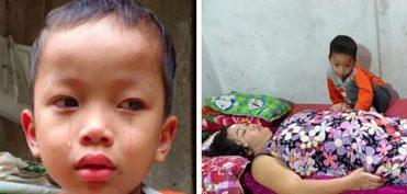 Nghệ An: Mẹ liệt toàn thân, bé 4 tuổi khóc 'cháu sợ về nhà mẹ không còn nữa'