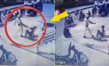 Sài Gòn: Chạy xe ngược chiều, 2 thanh niên bị CSGT đá vào mặt