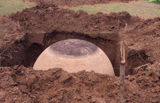Khối cầu đá được khai quật tại Costa Rica