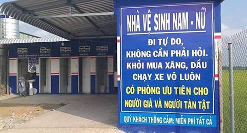 """Trạm xăng treo biển """"đi vệ sinh tự do"""" ở An Giang gây sốt cộng đồng mạng"""