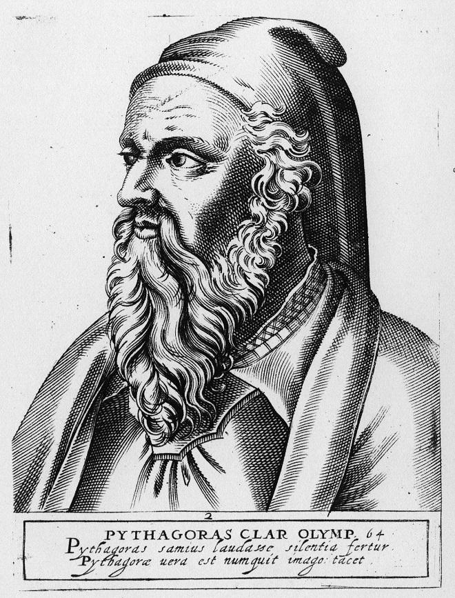 Triết gia kiêm nhà toán học Pytagor đã áp dụng toán học và âm nhạc để soạn ra một loạt giai điệu với tỷ lệ hài hòa được áp dụng để chữa các bệnh về tinh thần, tâm hồn và thể chất. (Ảnh qua ET)