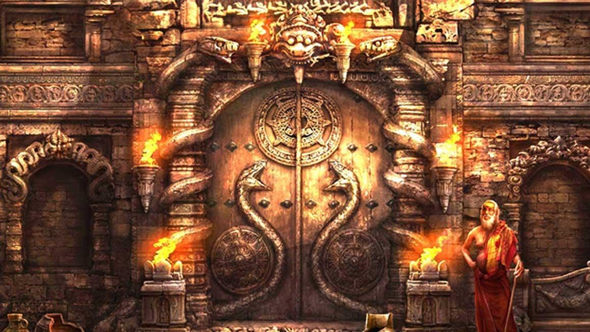 Cánh cửa mật chú đang bảo vệ kho báu của ngôi đền giàu nhất thế giới