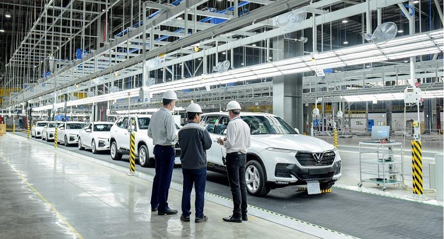 Nhà máy ô tô VinFast sẽ chính thức khánh thành vào tháng 6/2019. Ảnh 1