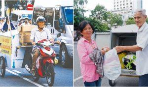 Cụ ông 80 ngày ngày chạy xe khắp phố gom quần áo cũ tặng cho người nghèo