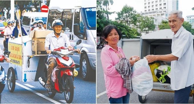 Cụ ông 80 tuổi ngày ngày chạy xe khắp phố gom quần áo cũ tặng người nghèo - ảnh 1