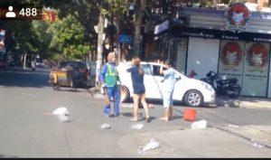 Quảng Trị : Nữ lao công bị đánh vì góp ý việc vứt rác của chủ shop quần áo