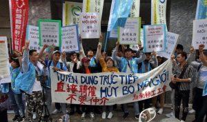 Công nhân Việt biểu tình ở Ðài Loan đòi bỏ môi giới tuyển dụng