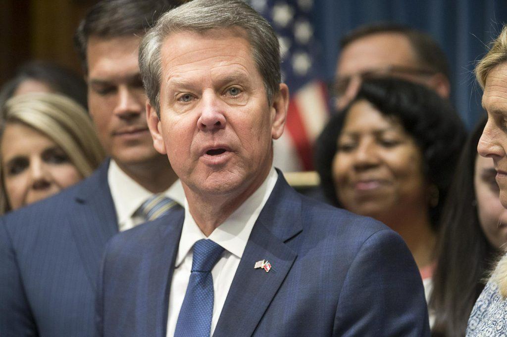 """Thống đốc Cộng hòa bang Georgia, ông Brian Kemp, đã ký dự luật """"nhịp tim của bào thai"""" nhằm tìm ra biện pháp cấm phá thai bất hợp pháp khi thai nhi được ít nhất 6 tuần tuổi. (Ảnh qua Sound of Hope)"""