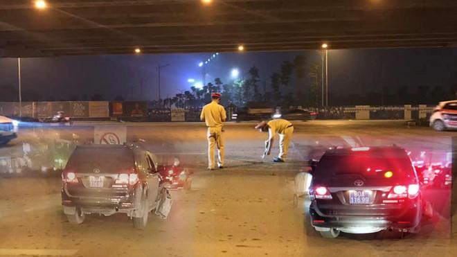Thượng sĩ Công An lái xe biển xanh gây tai nạn rồi bỏ chạy bị đình chỉ công tác - H4