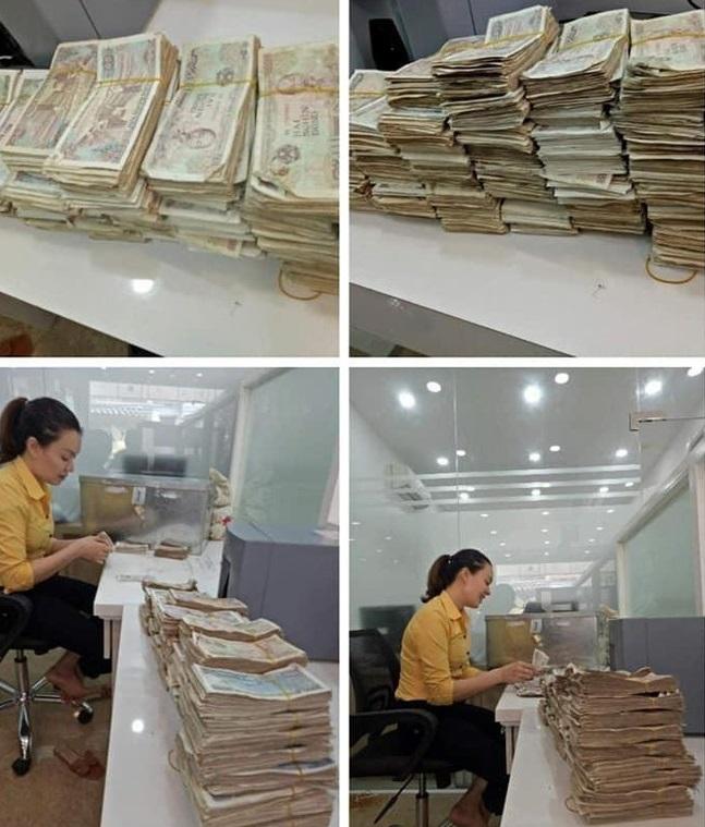 Tích góp suốt 4 năm bán rau: Cặp vợ chồng già chở bao tải tiền đến ngân hàng gửi tiết kiệm. 4