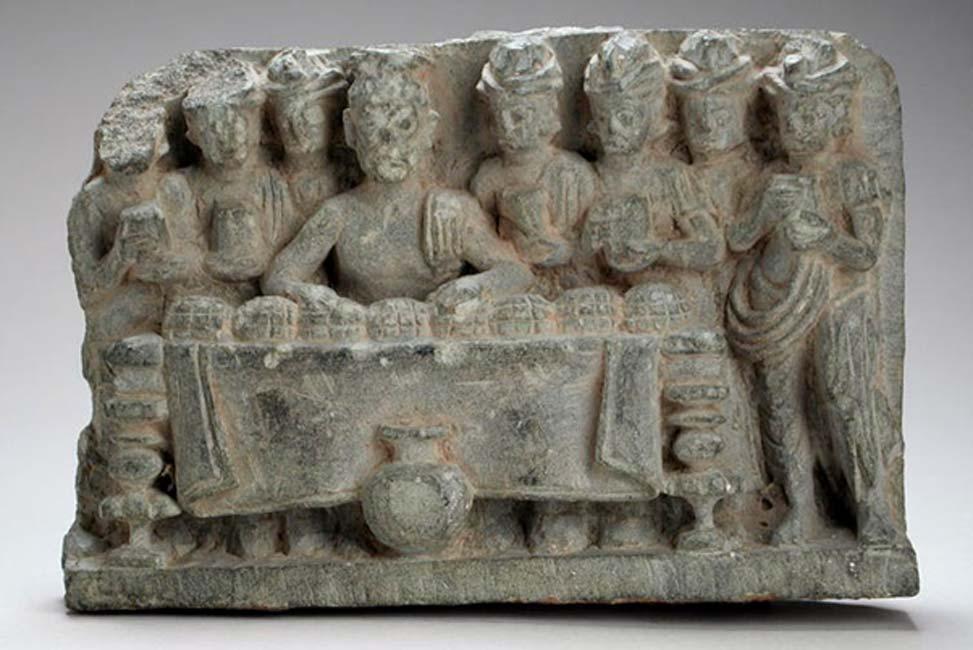 Một tác phẩm điêu khắc tại bảo tàng nghệ thuật hạt Los Angeles cho thấy sự phân bố của xá lợi Phật. (Ảnh: Wikimedia Commons)