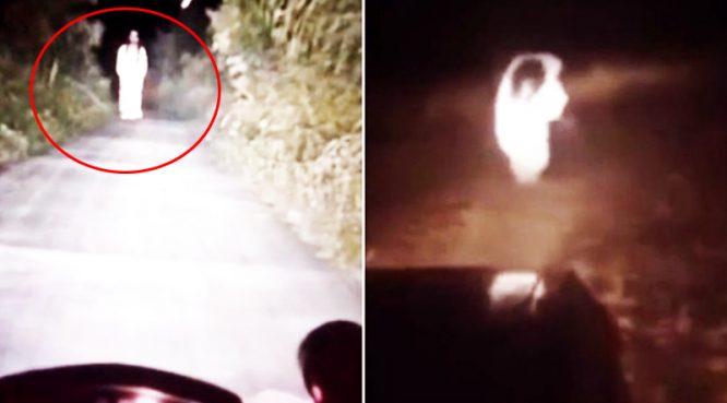 """""""Nữ quỷ"""" áo trắng ở Quảng Tây, cứ đêm xuống lại hiện ra hù người lái xe - H1"""
