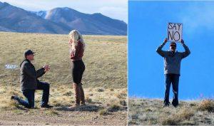 Cô gái bật khóc hạnh phúc khi được cầu hôn, ông bố từ xa chạy lại: 'SAY NO'