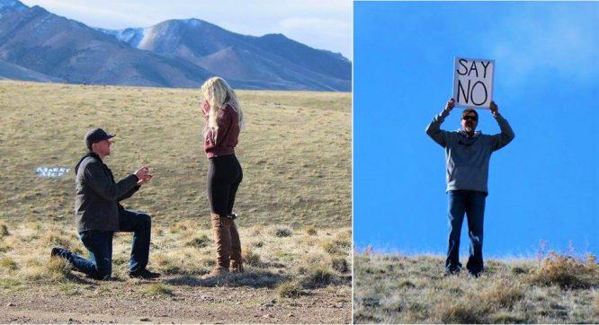 Cô gái bật khóc hạnh phúc khi được cầu hôn, ông bố từ xa chạy lại: 'SAY NO'.1