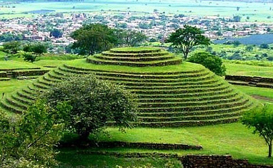 Khu vực khảo cổ Guachimontones. (Ảnh qua Ancient Pages)