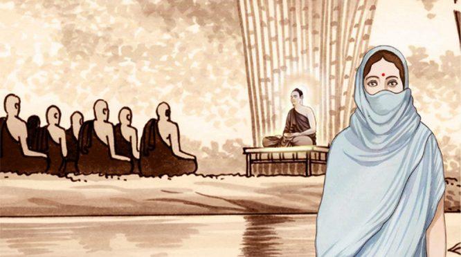 Tỳ kheo ni bị lừa thành lưng còng, Đức Phật nói rõ nhân quả đằng sau - H1