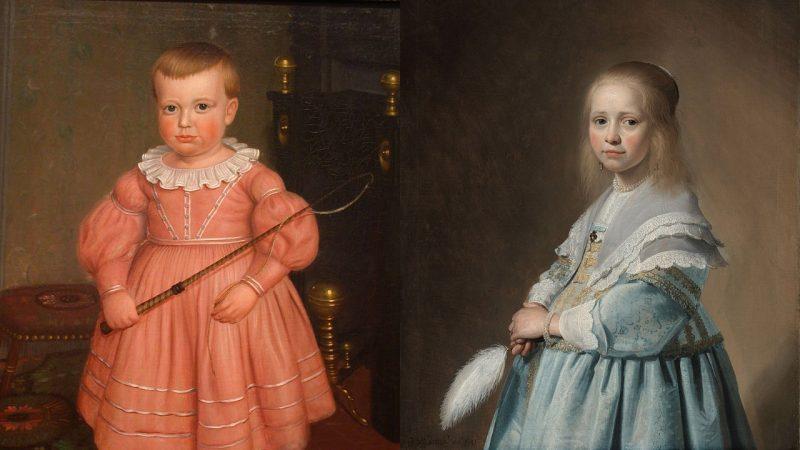 Màu hồng từng là màu của nam, màu xanh là của nữ. (Ảnh qua The Vintage News)
