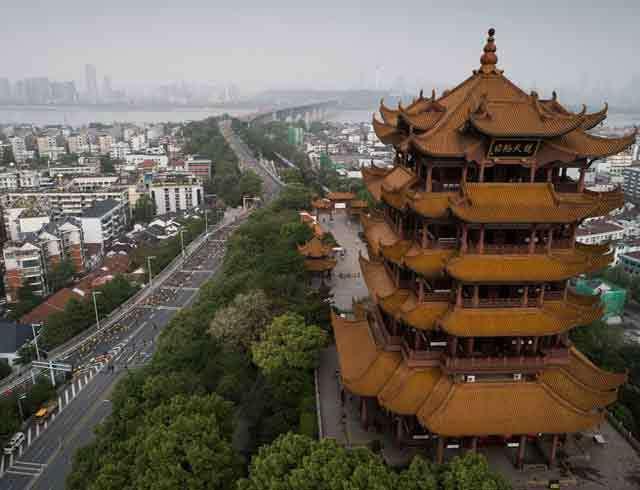 Thành phố Vũ Hán với con sông Dương Tử ở phía xa. (Ảnh: AFP/Getty Images)