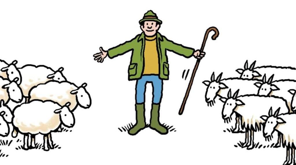 Theo một đoạn trong Kinh thánh, cừu và dê từ lâu đã đại diện cho cách hữu (phải) và cánh tả (trái).