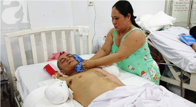 Chồng bị điện giật tàn phế, vợ 1 mình nuôi 4 đứa con và người mẹ già.1
