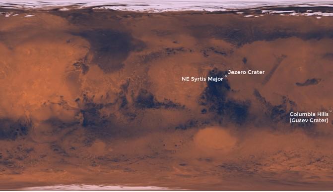 Thung lũng Jezero trên sao Hỏa. (Ảnh qua hanoimoi)