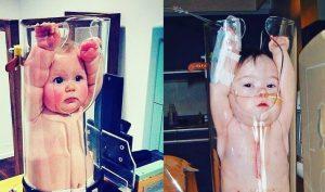 Cảm xúc đáng yêu của các em bé khi chụp X-quang