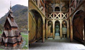 Kiến trúc của người Viking mang những nét độc đáo của văn hóa Scandinavia thời trung cổ. (Ảnh qua Pinterest)