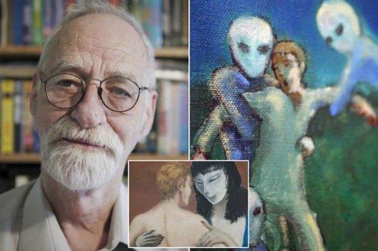Ông David Huggins đã tiếp xúc nhiều với người ngoài hành tinh. Ông kể rằng ông đã có rất nhiều con lai với họ. (Ảnh qua CE)