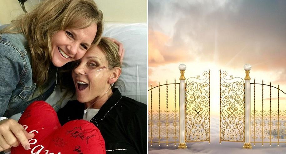 Bà Tina đã tỉnh lại kì diệu và kể bà đã thấy thiên đường. (Ảnh: t/h)