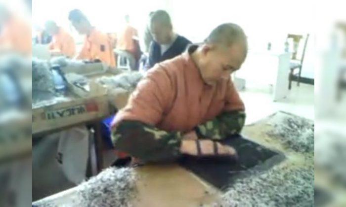 Đoạn phim ngắn từ trại lao động Mã Tam Gia ở Trung Quốc cho thấy các tù nhân làm các điốt bán dẫn trong Thế vận hội Bắc Kinh 2008. (Ảnh: Vu Minh)