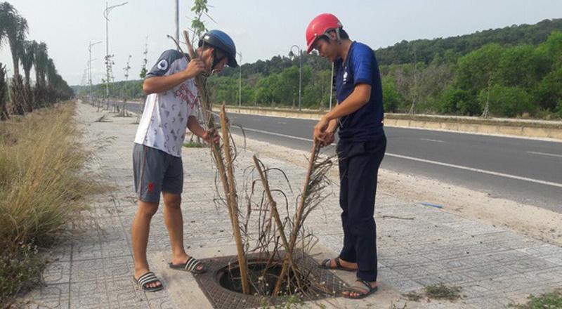 Cung đường đẹp nhất Phú Quốc bị mất trộm hơn 100 nắp cống - H1