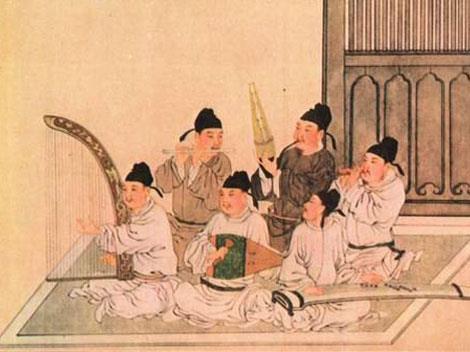 Dàn nhạc truyền thống Trung Quốc thời xưa. (Ảnh qua Harp.ca)