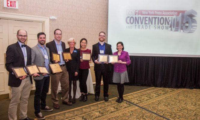 Ấn bản tiếng Anh của ĐKN đã giành được 21 giải thưởng trong cuộc thi Hiệp hội báo chí New York lần thứ 85 năm 2015. (Ảnh: The Epoch Times)