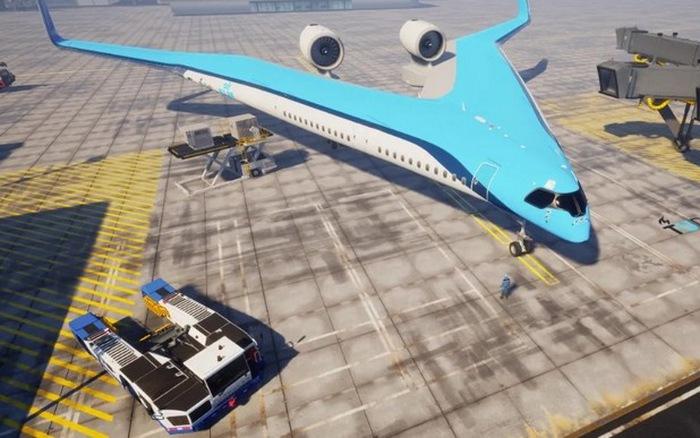 Trong tương lai, hành khách có thể ngồi những chiếc máy bay chữ V hết sức độc đáo