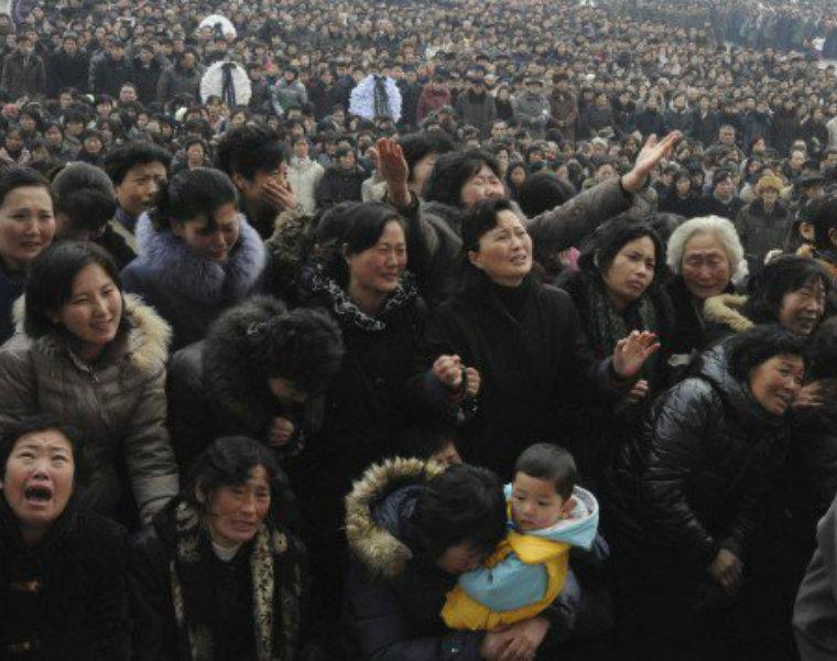 Người dân ở thủ đô Bình Nhưỡng. (Ảnh: Michael Huniewicz)