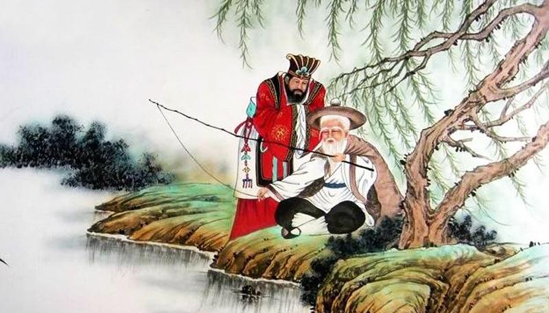 Chu Văn Vương gặp được Khương Tử Nha khi ông đang ngồi câu cá.